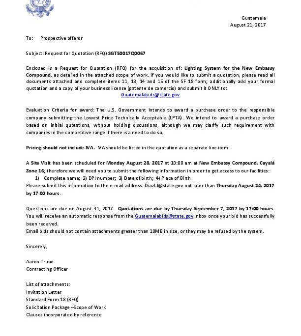 Sgt50017q0067 invitation letter for rfq u s embassy in for Consul example