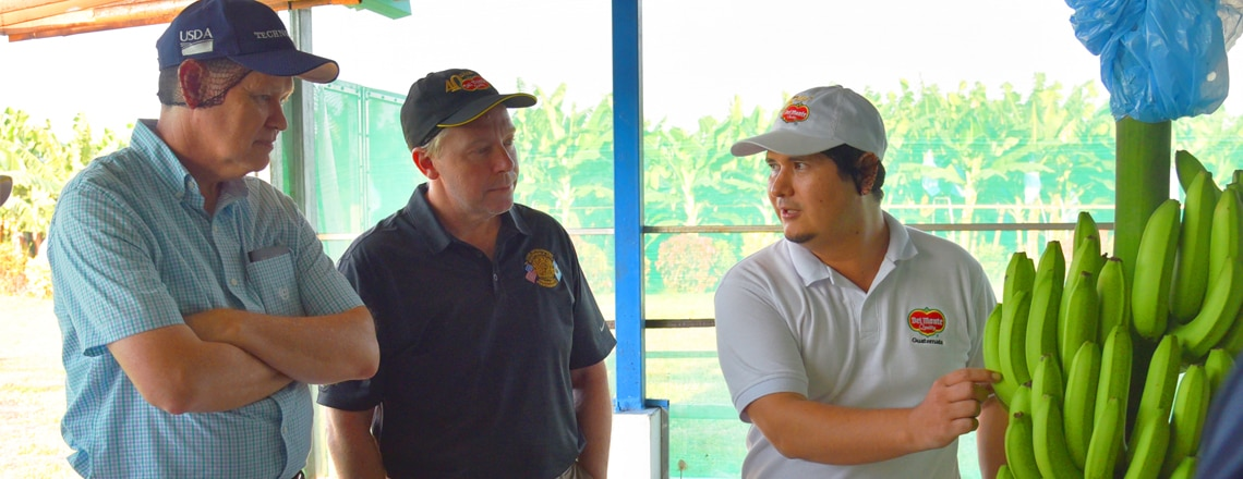 Deputy Chief of Mission Hodge visits Del Monte facilities in Izabal