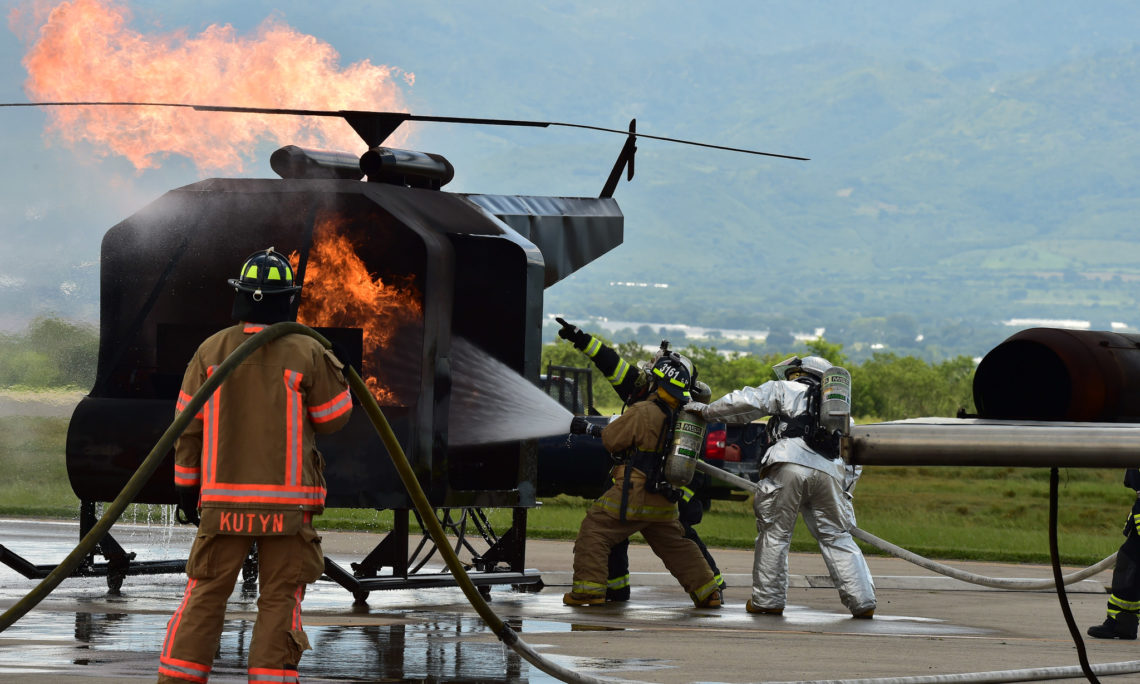 The Joint Task Force Bravo Received 30 Firefighters From Honduras Guatemala Panama El Salvador Costa Rica And Nicaragua At Soto Cano Air Base